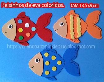 Peixinho De Eva Artesanato Tam 13 5x9 5 Cm R 45 00 Em Mercado