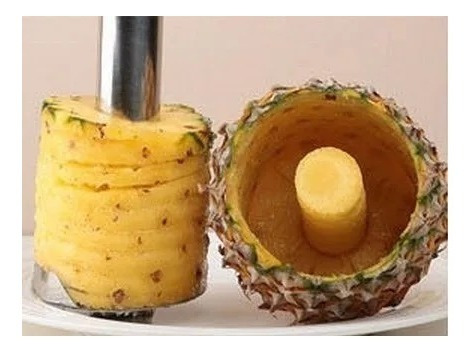 pelador cortador de ananá acero inox