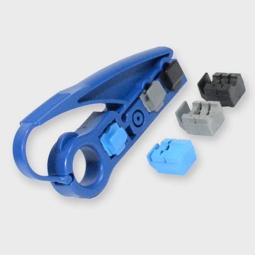 pelador de cable, con 3 cuchillas para rg59/6/7/11 y utp