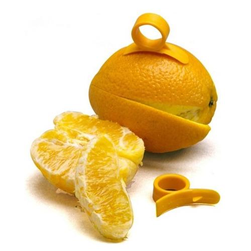 pelador de la piel y rebanador de naranja y cítricos, corta