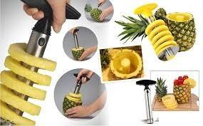 pelapiña, rebanador, cortador de piña para coctéles y platos