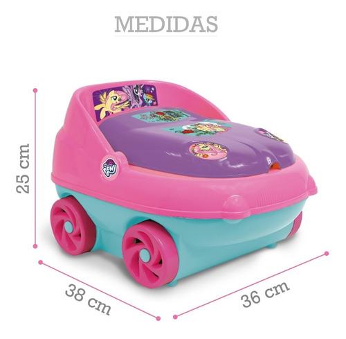 pelela infantil c/porta rollo my little pony