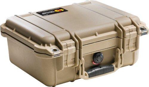pelican 1400 estuche para cámara con espuma (desert tan)