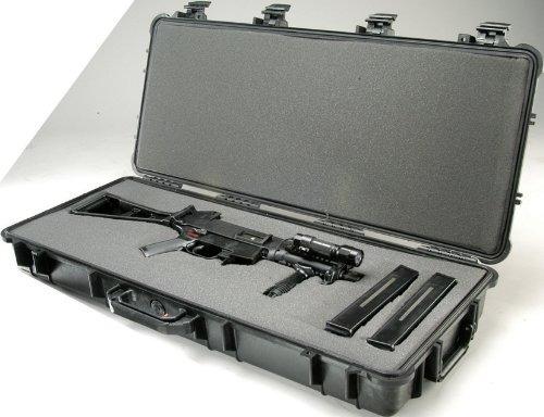 pelican 1700 rifle case con espuma (negro)