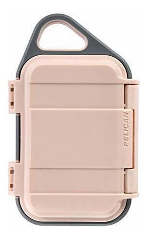 pelican go g10 case - funda impermeable (rubor / gris)