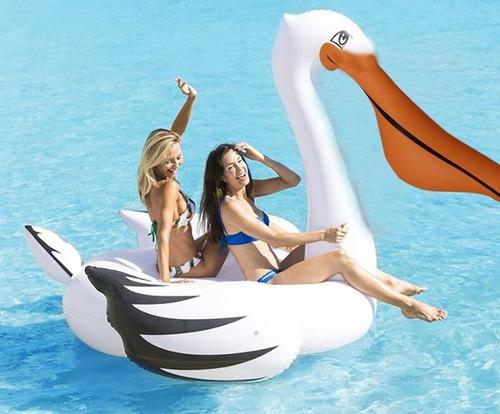 pelicano gigante colchoneta inflable pileta adultos