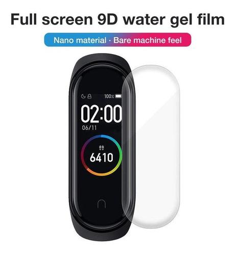 película 9d nano gel para xiaomi mi band 3/4 kit 2 peliculas