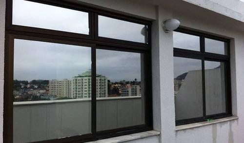 película adesiva filme prata espelhado vidro  1x1 mt