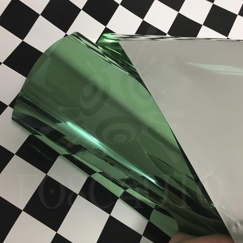 película adesiva filme verde espelhado vidro portas blindex