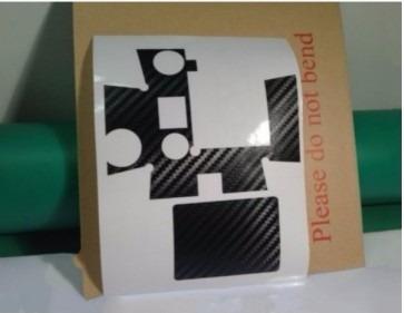 película adesivo carbono caixa estanque gopro hero 1 2 3 3+4