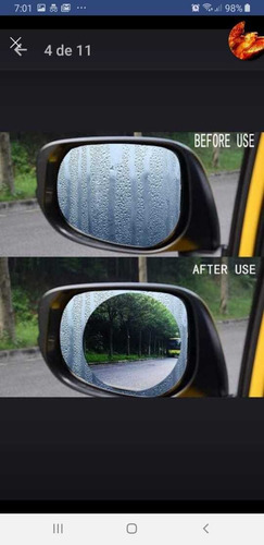 pelicula antiempañante espejo retrovisor carro - moto