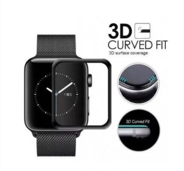 8fde1309088 Película Apple Watch 42mm 38mm 3d Vidro Com Borda Curva A. - R  14 ...