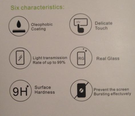 película bindada vidro temperado l80  glass0,33mm