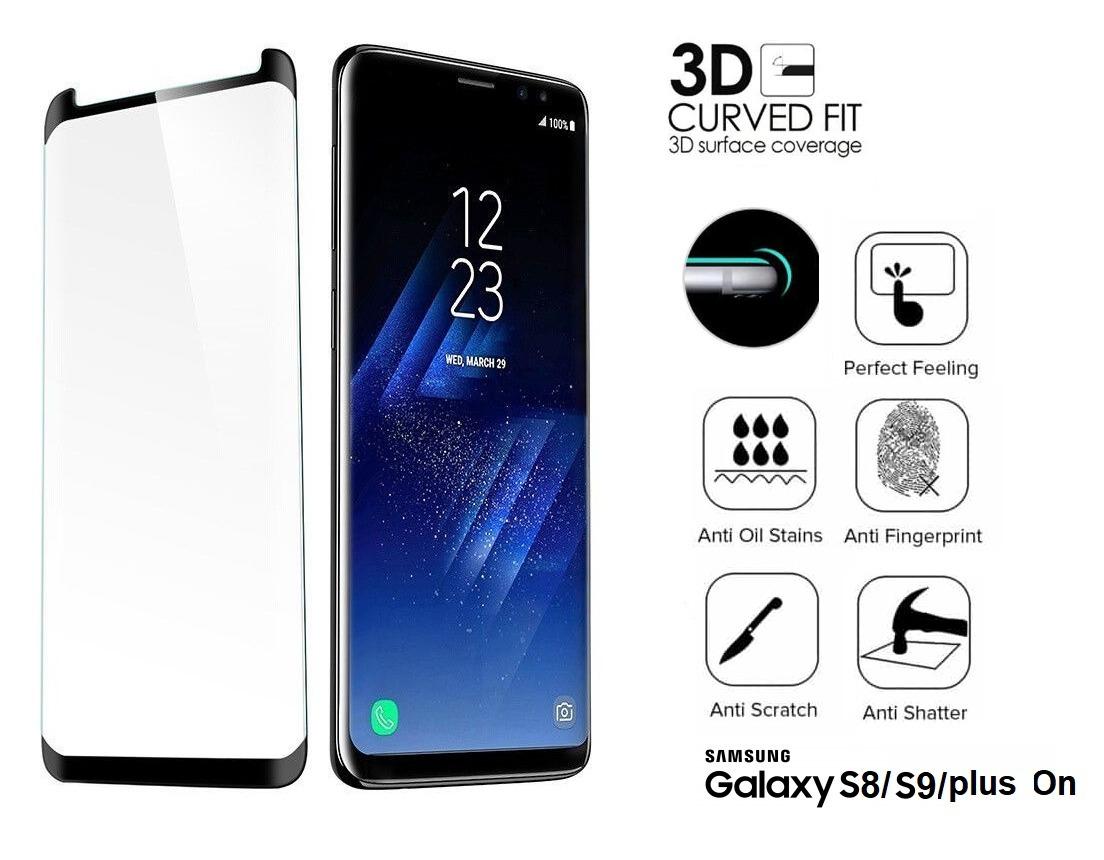 68a67216d Película C O L A Tela Toda Curva Samsung Galaxy S8 s9 plus - R  23 ...