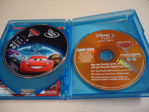 pelicula  cars 2. 5 discos combo: blu-ray 3d-abierto
