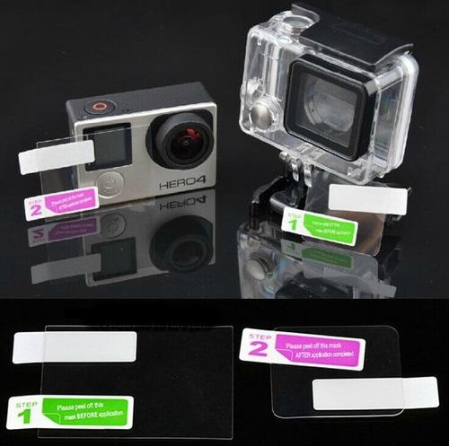 película da tela de lcd e lente da caixa gopro hero4 silver