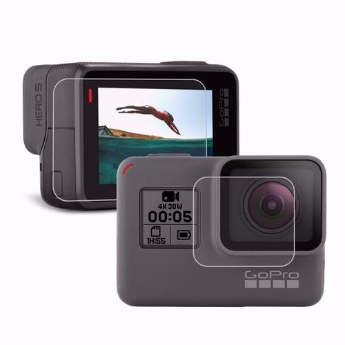 película de proteção lente e tela lcd gopro hero 5 7 black