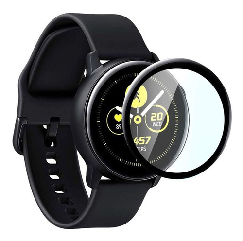 película de vidro 3d para galaxy watch active 2 44mm sm-r825