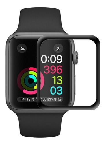 película de vidro 3d tela toda apple watch 42mm series 1/2/3