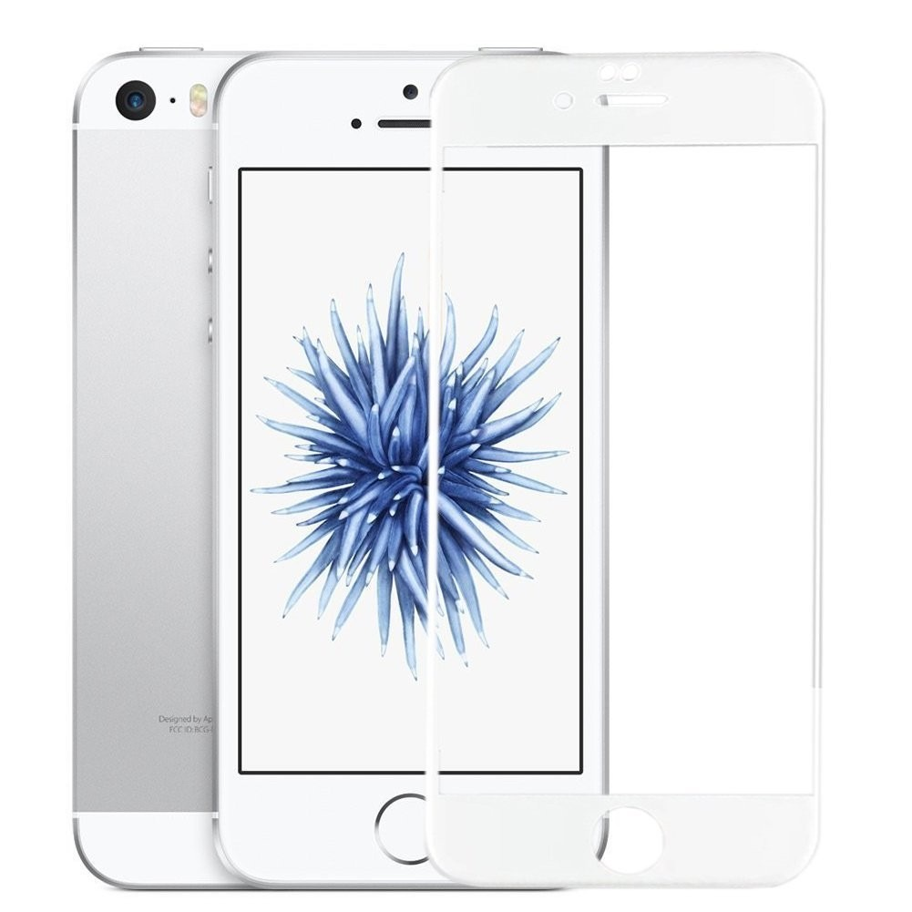 2436dfaa5c0 película de vidro com bordas 3d iphone se/5s/5c/5 branca. Carregando zoom.