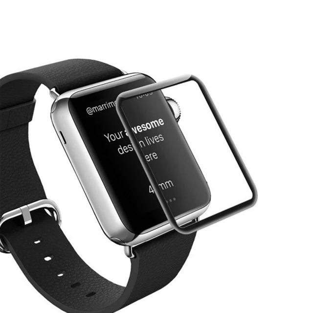f9299aa8030 Película De Vidro Curva 3d Para O Relógio Apple Watch 42mm - R  40 ...