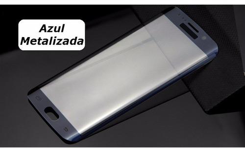 película de vidro curva para galaxy s6 tela inteira + capa
