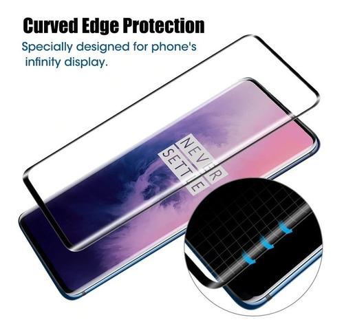 película de vidro oneplus 7 pro tela 6.67 curva 3d full cover