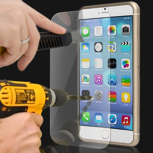 película de vidro temperado blindada iphone 5, 6 4.7  e 5.5