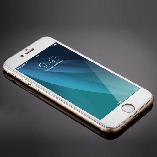 pelicula de vidro temperado e aluminio para iphone 6 e 6s