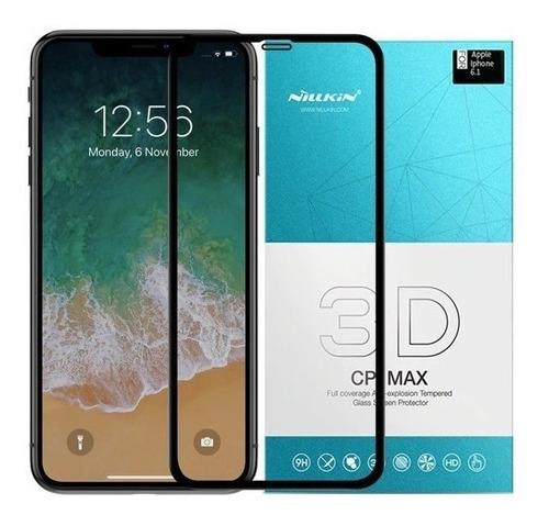 película de vidro temperado iphone xr nillkin 3d cp max