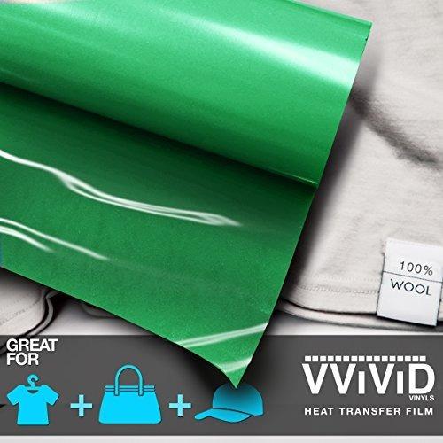 película de vinilo vvivid green heavy-duty iron-on heat tran