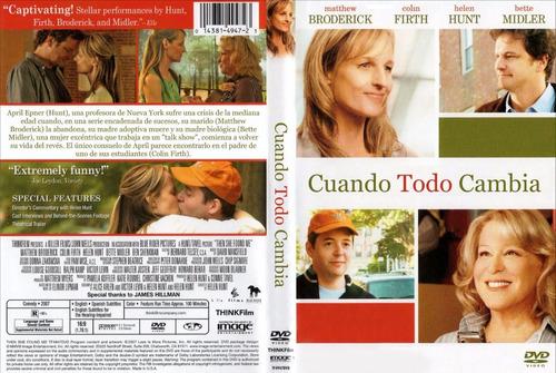 pelicula dvd 100% original cuando todo cambia