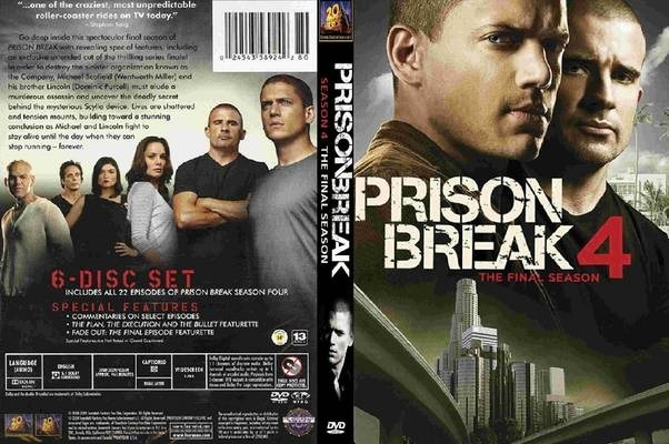 Pelicula Dvd 100% Original Prison Break Temporada 4 Disco 6 - $ 86 ...