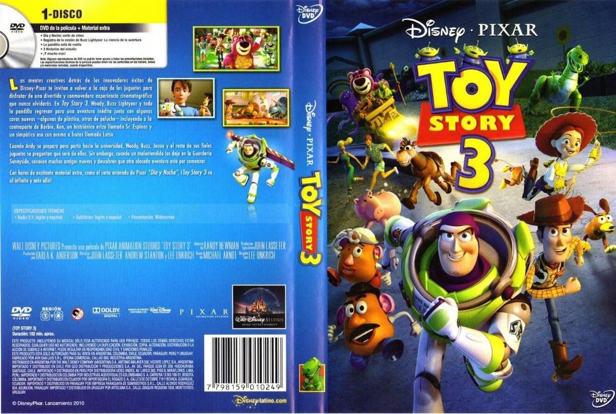 Pelicula Dvd 100 Original Toy Story 3 110 80 En Mercado Libre