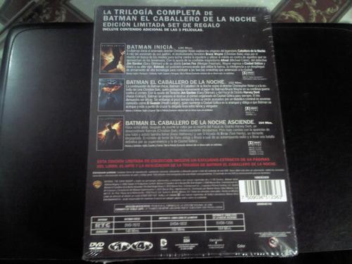 pelicula dvd batman the dark knight trilogy edicion limitada