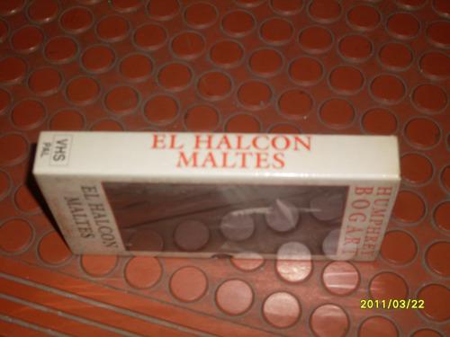pelicula en vhs  el halcon maltes    humphrey bogart nueva