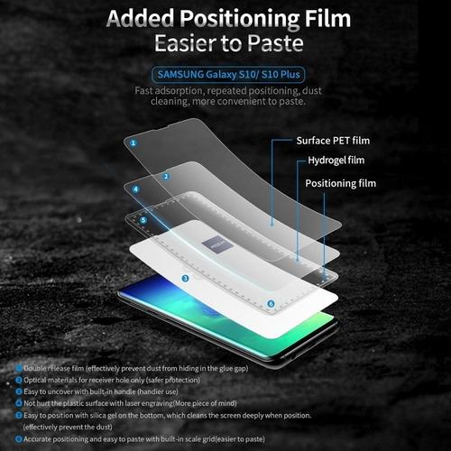 película galaxy s10 plus kingshield hydrogel (2x unid tela)