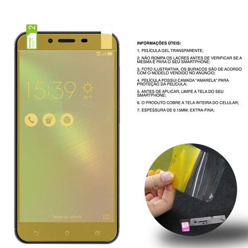 aae1e1e551 Película Gel Moto Z2 Play Transparente Melhor Preço - R  9