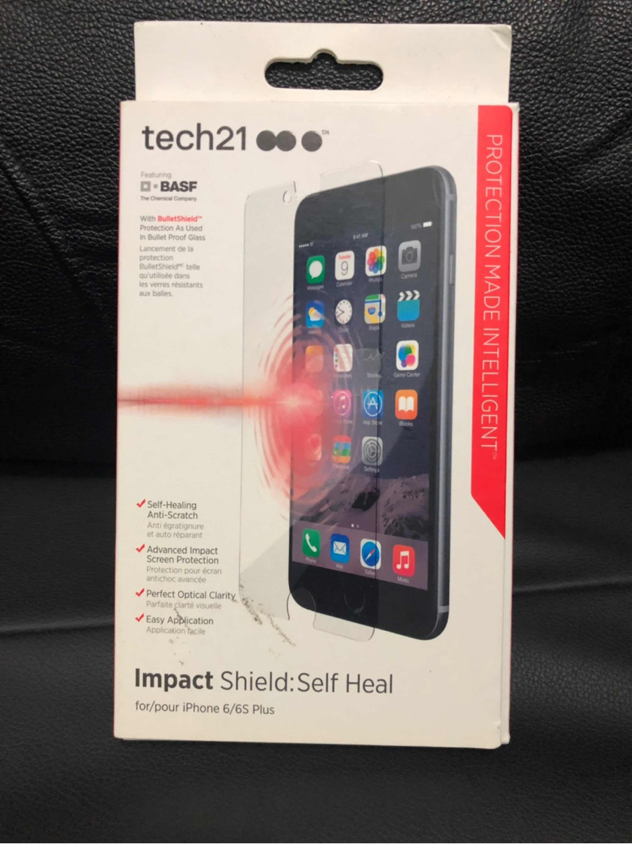 new concept 39c6b c2735 Película Impact Shield Tech21 C/ Anti Reflexo iPhone 6s Plus
