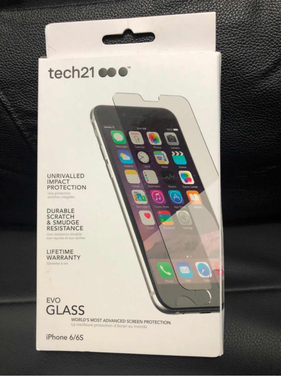 new style b514e 93c7a Película Impact Shield Tech21 C/ Evo Glass iPhone 6/6s