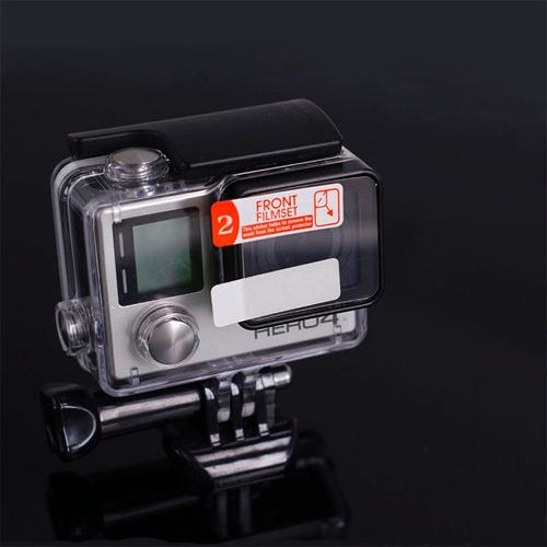 pelicula lente caixa 40 metros - gopro hero 4 3+ - 3 unid
