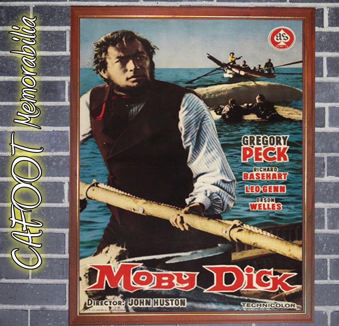 Pelicula Moby Dick Poster Enmarcado - $ 299,00 en Mercado Libre
