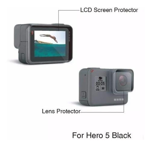 película para gopro hero 7 black 5 6 cover case transporte