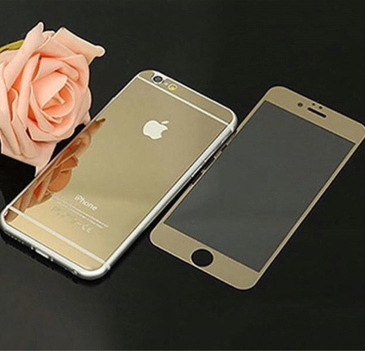 capa pel cula dourada espelhada para iphone 4 4s 6 6s 6. Black Bedroom Furniture Sets. Home Design Ideas