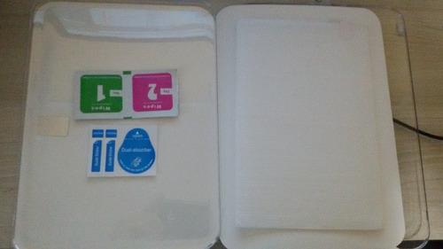 película para uso samsung tab pró t320 de 8.4 polegadas vidro temperado embalagem acrilica promoção preço baixo envio já