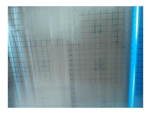 película para vidrios, ventanas - linea estática cuadro azul