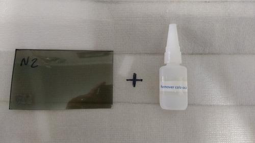 pelicula polarizada cortada projetor alfawise x 3200+remover