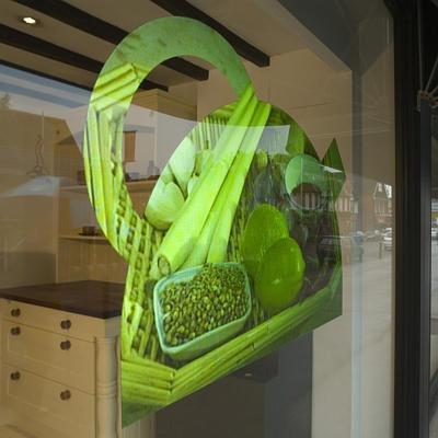 película projeção invertida espelhada espelho vitrine vidro