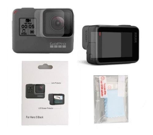 película proteção lente e tela lcd gopro hero 5 6 black