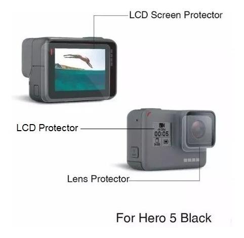 película proteção lente e tela lcd gopro hero 7 black
